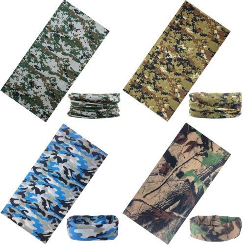 MultiFunction Camo Tube Scarf Headbands Face Mask Warmer-Bandana-Headwear/&Snood