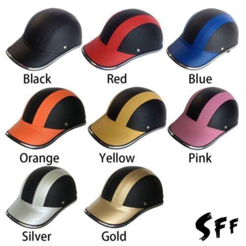 New Motorcycle Bike Half Helmet Baseball Cap Style Safety Hard Hat Open Face