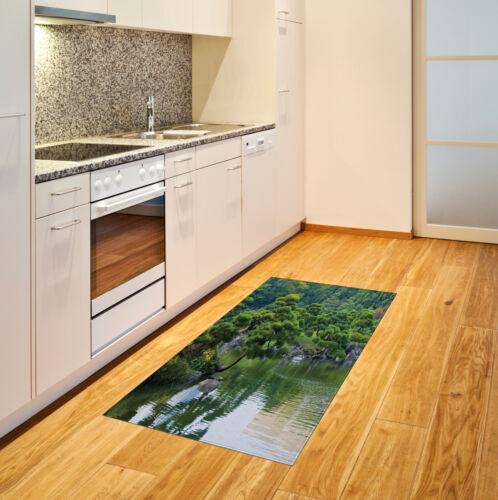 Natur Baumwolle Teppich Fluss-Landschaft Bäume