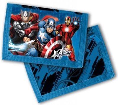 Amichevole Portafoglio Personaggi Avengers Marvel Portamonete Bambini Astuccio Soldi Blu