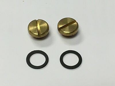 26-13 HOLLEY Carburetor Carb BRASS Fuel Bowl Sight Plugs 2 PACK NEW A44