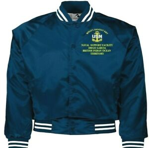 NAVAL SUPPORT FACILITY DIEGO GARCIA NAVY EMBROIDERED 2-SIDED SATIN JACKET
