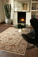 Noble Art Cream Traditional Rugs Floral Wilton Weave 80x150cm Wool Look