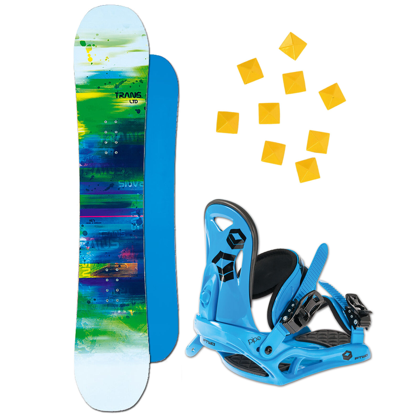 Men's Snowboard  Trans Ltd White 147 cm + Ftwo Pipe Binding M+ Pad