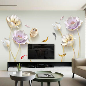 Details About Chinese Style Flower 3d Wallpaper Wall Stickers Living Room Bedroom Bathroom