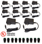 10 Pcs 12V DC 1 Amper Power Supply Adapter Cord Charger w// 10x Female Jack