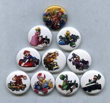 "MARIO KART 1"" PINS BUTTONS (nintendo nes n 64 wii gamecube 3ds 7 luigi poster)"