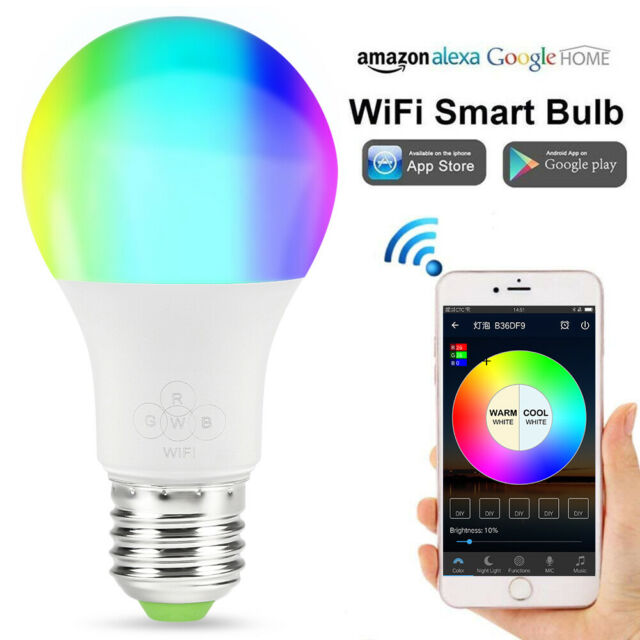 E27 WiFi Smart Light Bulb LED Dimmable App Control for Alexa, Google Home 2#