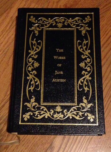 The Works of Jane Austen - Black & Gold Leather Bound Edition, Gold Gilt Pages