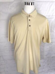 Cubavera-Polo-Mens-Shirt-Size-XL-Short-Sleeve-Yellow