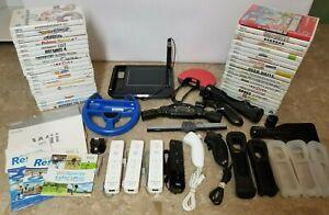 Nintendo-Wii-Lot-of-40-Different-Games-amp-Accessories-Mario-Kart-Resort-Fit-Lego