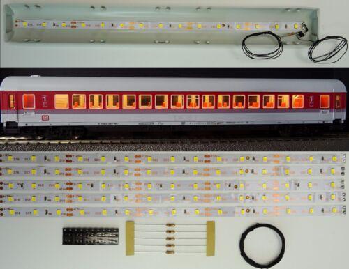 5 pcs 250 mm DEL Wagon éclairage intérieur blanc chaud kit analogique//numérique c3217