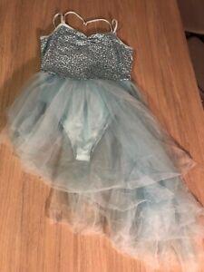 Ladies-Size-10-12-Blue-Sequin-Lyrical-Dress-Ice-Blue-Ballet-Dance-Contemporary