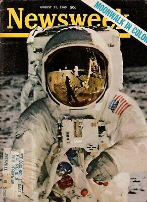 1969 Newsweek Agosto 11 - En La Luna ; Ted Kennedy Scandal; Elvis Presley