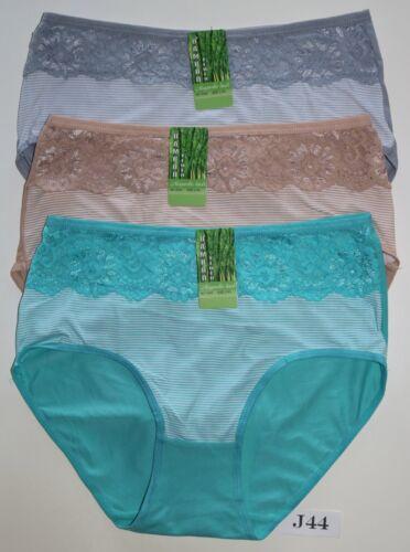 3*4*er.Damen Slips Pants Pantys Dessous Unterwäsche.Gr.:M;L:=40//42;44//46.NEU.