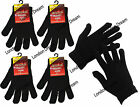 3 Pair Unisex Mens Ladies Girls Warmed Magic Gloves Stretchable One Size Fit All