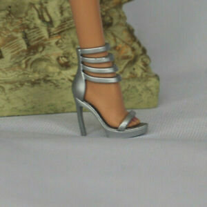 Barbie gold high heel model muse silkstone pumps shoes peeptoe accessory basics