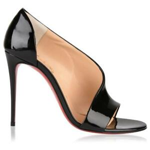 a575271999c Image is loading Christian-Louboutin-PHOEBE-100-Asymmetric-Patent-Heels- Pumps-