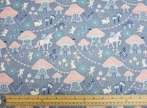 Lewis /& Irene FAIRY NIGHTS Glow in the Dark Unicorn 100/% Cotton Patchwork Fabric