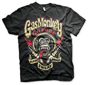 Licenza-Ufficiale-Gas-Monkey-Garage-Candele-T-Shirt-Taglie-S-XXL