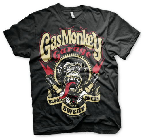 Officially Licensed Gas Monkey Garage Spark Plugs T-Shirt S-XXL Sizes