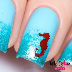 Image Is Loading Seahorse Stencils For Nails Nail Art Vinyls