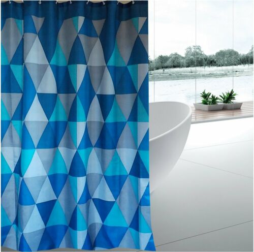 Triangle glass mosaic tiles fabric shower curtain 1.8m new free shipping