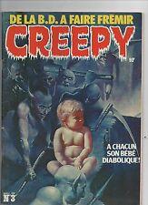 CREEPY n°3 nouvelle série. 1978. TBE