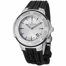 Charriol Men's Celtica Silver Dial Rubber Strap Automatic Watch CE443AB173003