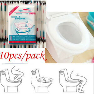 10 50pcs pack disposable toilet seat covers paper travel
