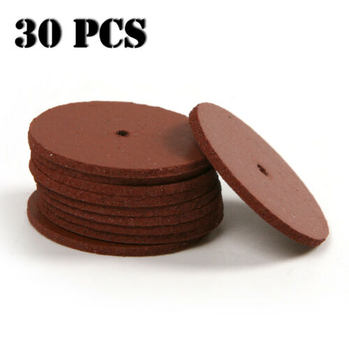 30Pcs Red Mini Ultrathin Slice Rubber Grinding Wheel Disc for Rotary Tools