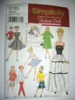 Simplicity Sewing Pattern 5785 Doll Clothes, One Size Craft Supplies