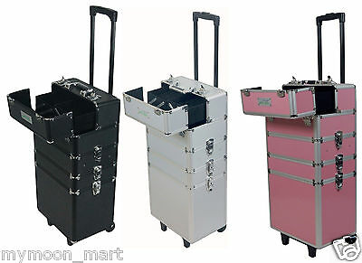 MollyCoddle Brand 7 in1 Hairdressing Makeup Beauty Case Cosmetic Trolley