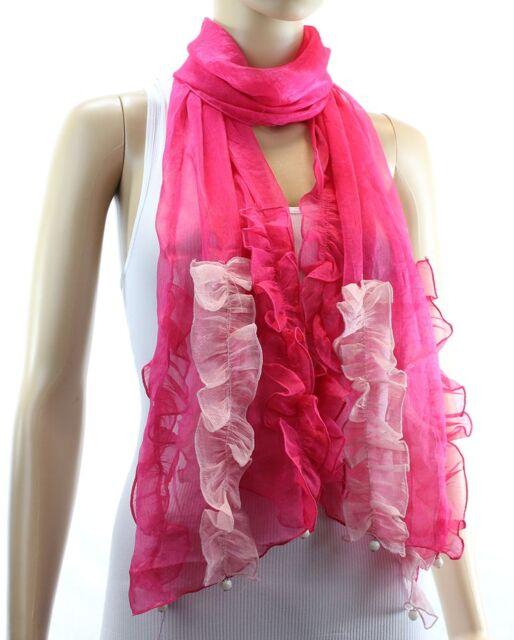 Fashion New Hot Womens Lace Long Soft Wrap Lady Shawl Silk Chiffon Scarf Scarves