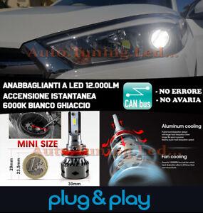 HYUNDAI TUCSON 2015+ ANABBAGLIANTI LAMPADE A LED ADATTATORI 12.000LM NO AVARIA