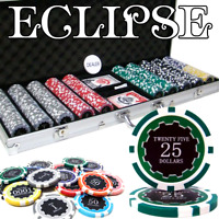 500 Ct Eclipse Poker Chip Set W/ Aluminum Case 14 Gram Casino Gambling Chips