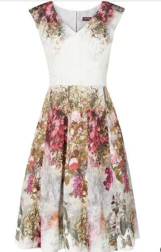 PHASE EIGHT Jasmin Floral Vestido Talla 12 BNWT