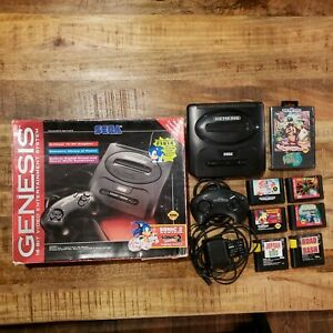 Sega Genesis System Bundle Complete With Sonic 2 Game Controllers RF AC Tested