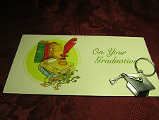 Graduation Cap & Tassel Key Ring & Gift Money Card