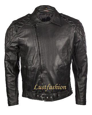 Ausdauernd Lederjacke Männer Schwarz, Jacke Leder Xs S M L Xl Xxl 3xl Leather Jacket Black