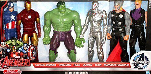 Marvel avengers  iron man, hulk, thor, titan - held captain america ultron +