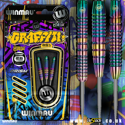 Graffiti 85/% Tungsten Darts Shafts Flights 24g Winmau Darts Urban Grip