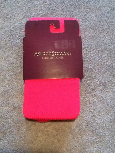 Ashley Stewart Plus Ribbed Hot Pink Or Gray Footed Tights 1X 2X 3X New