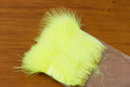 Yellow Fly Tying Fl Strung Marabou Blood Quill