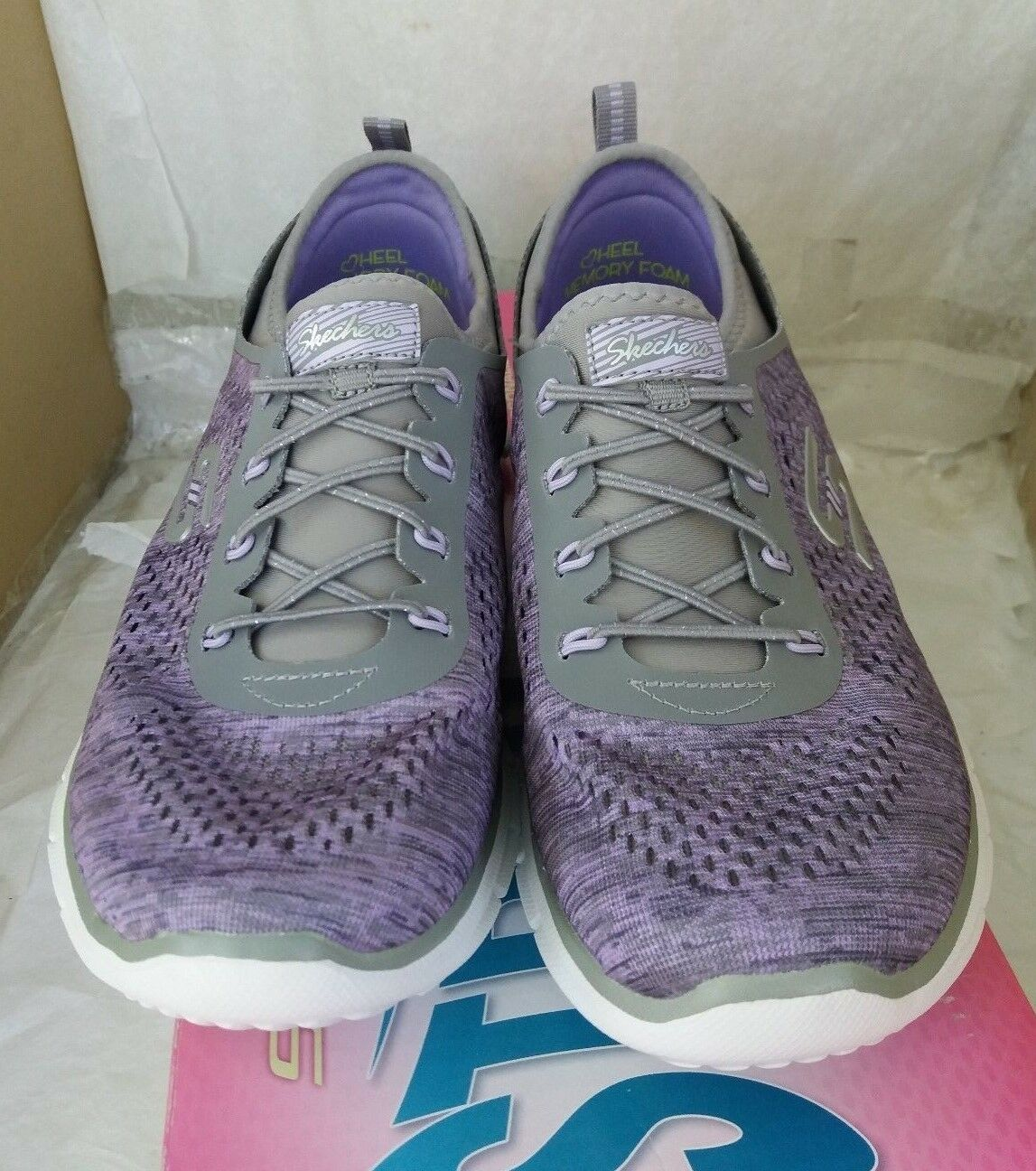 SKECHERS Stretch Fit: with Air Air with Cooled Memory Foam - Grau/Violet db737b