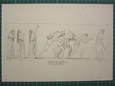 1880 PRINT JOHN FLAXMAN AESCHYLUS MYTHOLOGY ~ SEVEN CHIEFS AGAINST THEBES FAIRES
