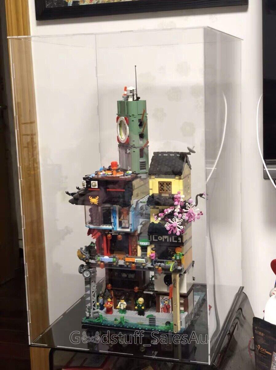 Lego display case for LEGO Ninjago City By 70620 ( Australia Seller)