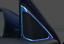 For Honda Accord 10th 2018-2020 Blue Titanium A Pillar Speaker Frame Cover Trim