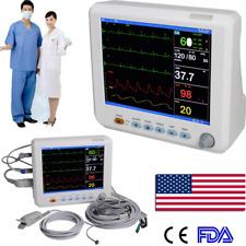 Portable Medical Patient Monitor Vital Sign Icu Ccu Ecg Nibp Resp Temp Pr Spo2