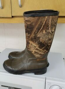 Game Winner Boots  Size 2 Youth Thinsulate Steel Shank Hunting Camo